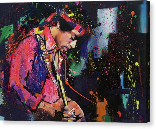 Stratocasters Canvas Print - Jimi Hendrix II by Richard Day