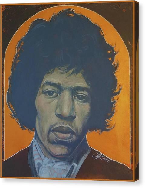 Jimi Hendrix Canvas Print by Jovana Kolic