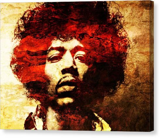 Jimi Hendrix Canvas Print by J  - O   N    E