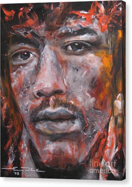 Jimi Hendrix Manic Depression Canvas Print