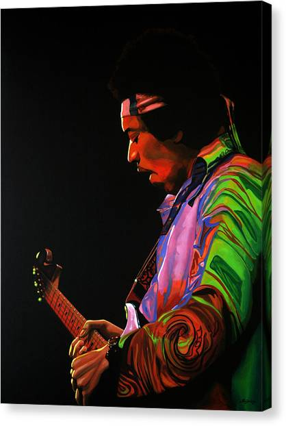 Knights Canvas Print - Jimi Hendrix 4 by Paul Meijering