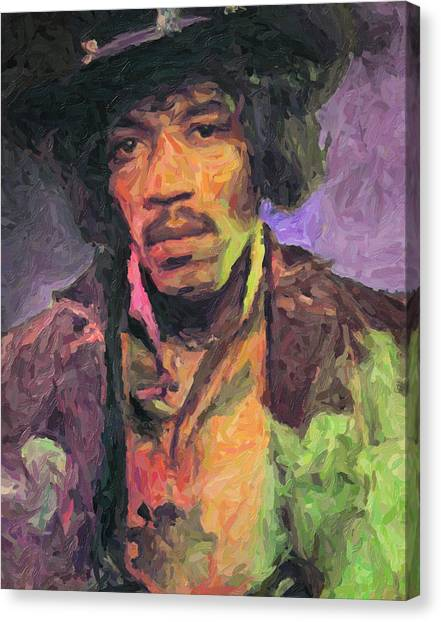Stratocasters Canvas Print - Jimi Hendrix Painting by Zapista