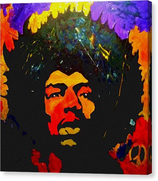 Jimi The Man Canvas Print