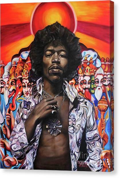 Coexist Canvas Print - Jimi Transcendence by Barbara Rivera