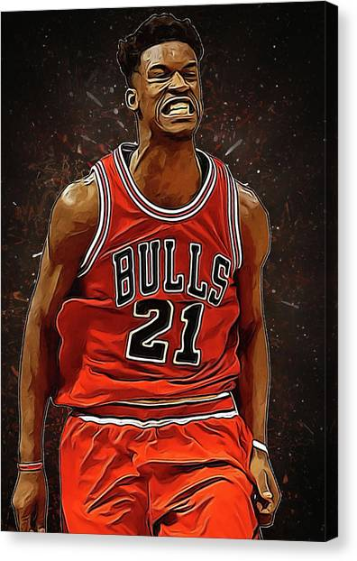 Black Mambas Canvas Print - Jimmy Butler by Semih Yurdabak