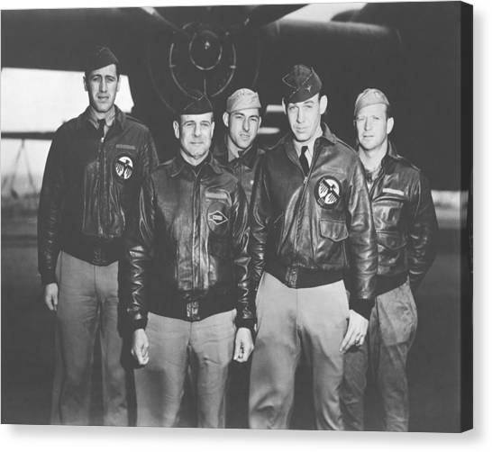Air Force Canvas Print - Jimmy Doolittle And His Crew by War Is Hell Store