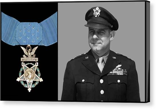 Aviators Canvas Print - Jimmy Doolittle And The Medal Of Honor by War Is Hell Store