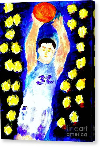 Jimmy Fredette Jimmered 2 Canvas Print by Ricardo Richard W Linford