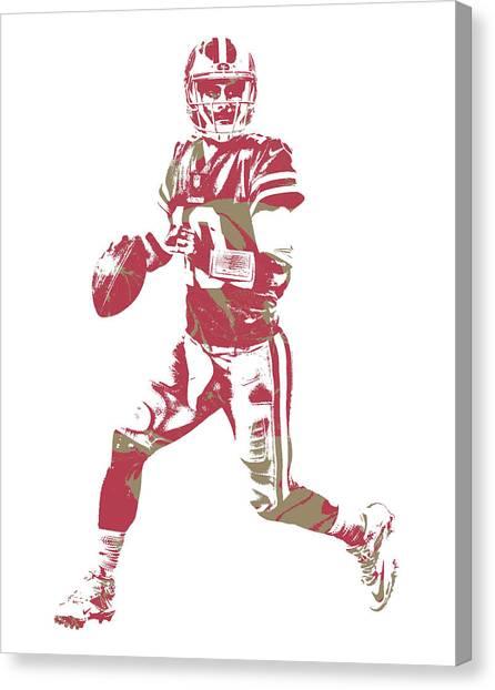 San Francisco 49ers Canvas Print - Jimmy Garoppolo San Francisco 49ers Pixel Art 2 by Joe Hamilton