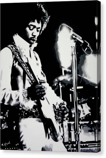 Jimmy Hendrix Purple Haze Canvas Print