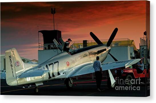 Jimmy Leeward And The Galloping Ghost By Gus Mccrea Canvas Print