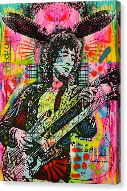Led Zepplin Canvas Print - Jimmy Page Airship by Dean Russo Art