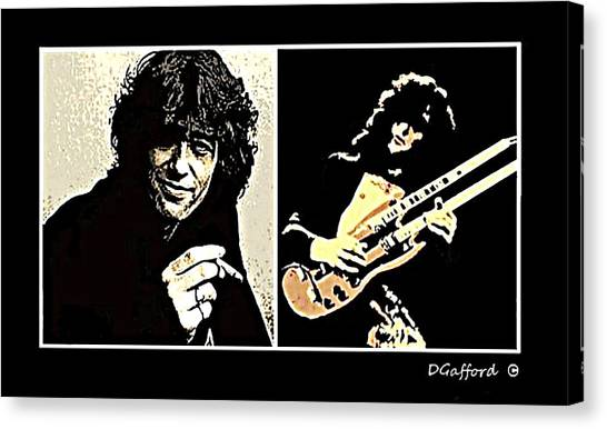 Jimmy Page Canvas Print by Dave Gafford