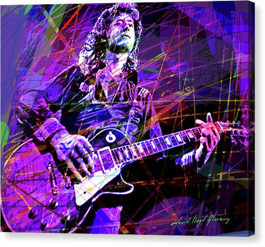 Led Zepplin Canvas Print - Jimmy Page Solos by David Lloyd Glover