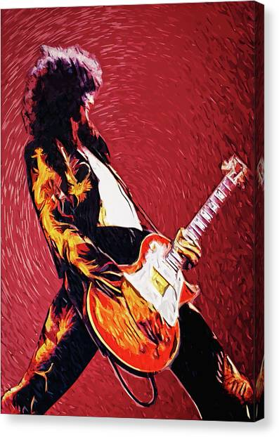 Robert Plant Canvas Print - Jimmy Page  by Zapista