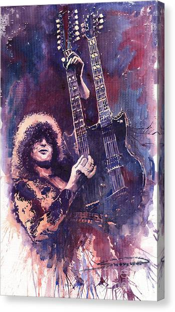 Led Zepplin Canvas Print - Jimmy Page  by Yuriy Shevchuk
