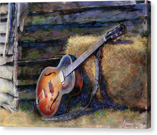 Acoustic Guitars Canvas Print - Jim's Guitar by Andrew King