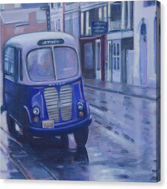 Jitney Ride In The Rain Canvas Print