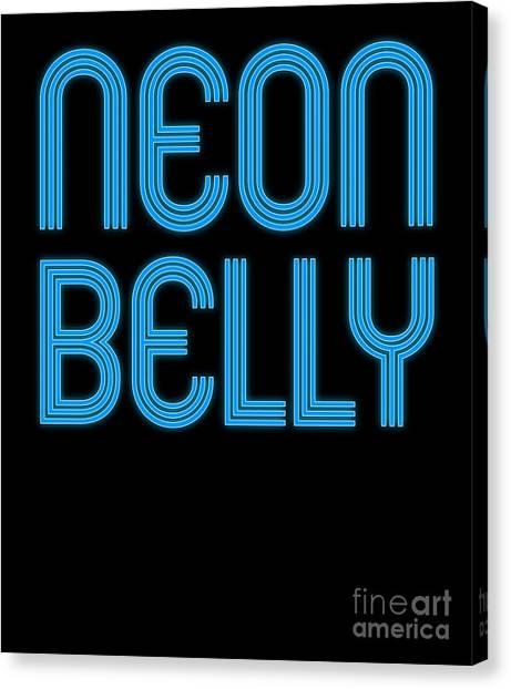 Jujitsu Canvas Print - Jiu Jitsu Bjj Neon Belly Blue Light by J P
