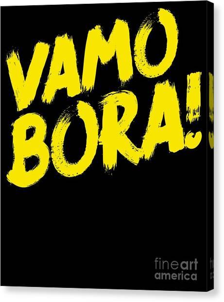 Jujitsu Canvas Print - Jiu Jitsu Design Vamo Bora Yellow Light Martial Arts by J P