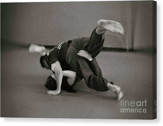 Jiu Jitsu Canvas Print