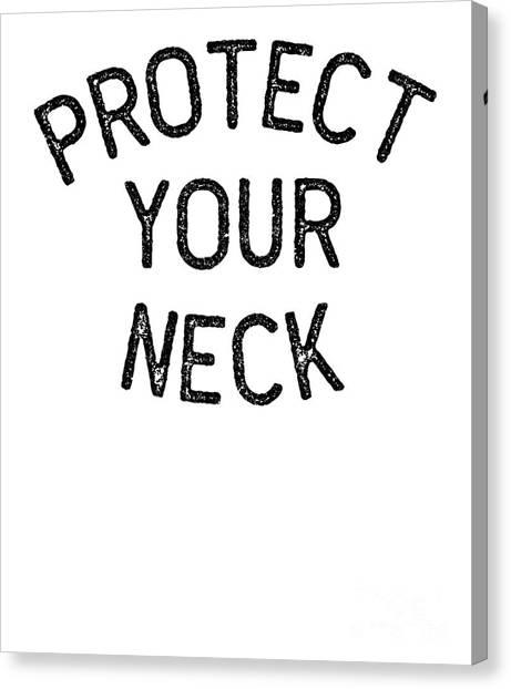 Jujitsu Canvas Print - Jiu Jitsu Protect Your Neck Dark Jujitsu Bjj Gift Dark by J P