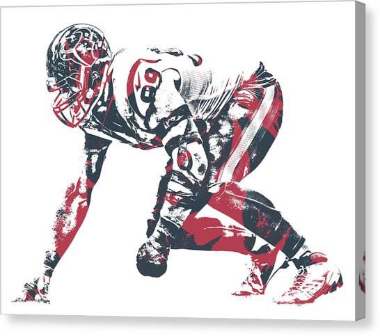 Houston Texans Canvas Print - Jj Watt Houston Texans Pixel Art 30 by Joe Hamilton