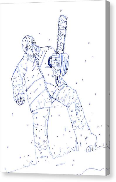 Resident Evil Canvas Print - Jjr Comic Character A By Typhoonart by Joerg Federmann Typhoonart