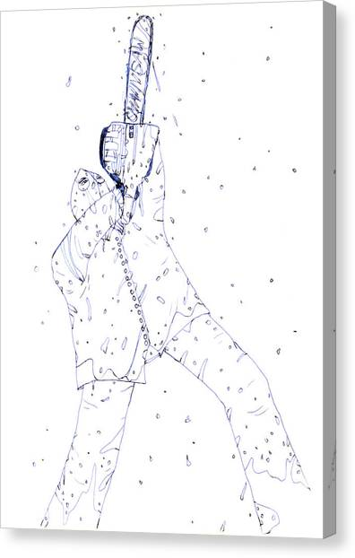 Resident Evil Canvas Print - Jjr Comic Character Zeichnung A 1  by Joerg Federmann Typhoonart