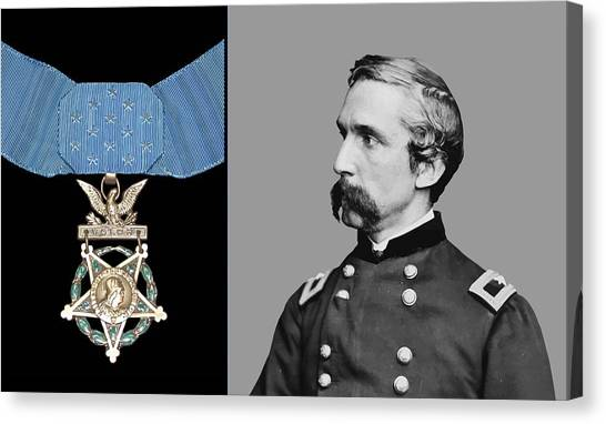 Honor Canvas Print - J.l. Chamberlain And The Medal Of Honor by War Is Hell Store