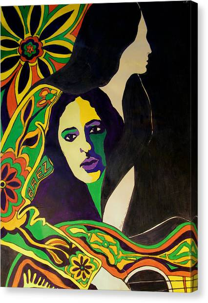 Joan Baez In The Psychodelic Age Canvas Print