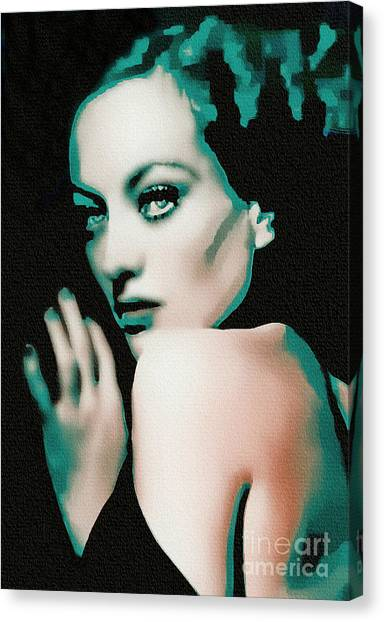 Joan Crawford - Pop Art Canvas Print
