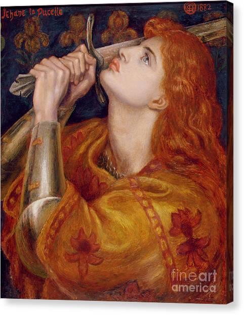 Pre-raphaelite Art Canvas Print - Joan Of Arc by Dante Charles Gabriel Rossetti