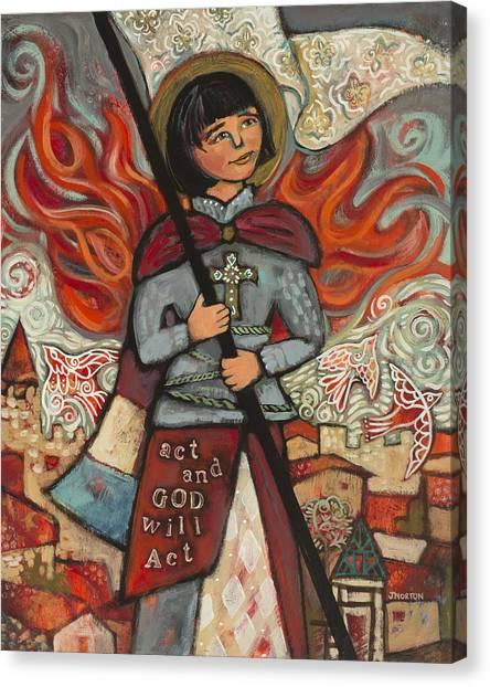 God Of War Canvas Print - Joan Of Arc by Jen Norton