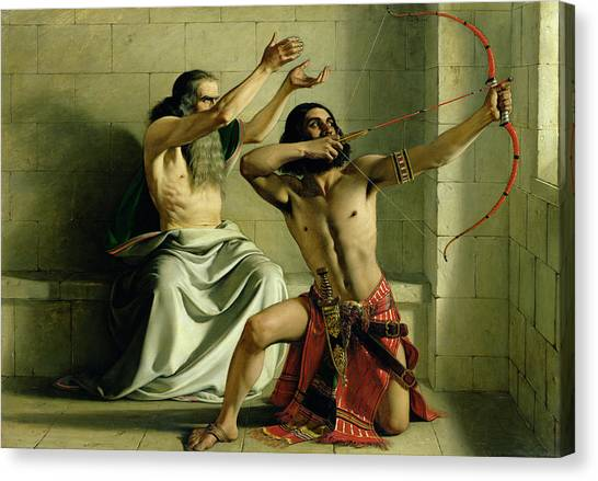 Syrian Canvas Print - Joash Shooting The Arrow Of Deliverance by William Dyce