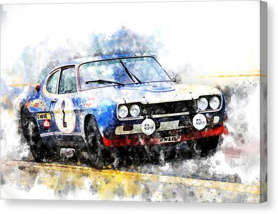 Cobra Canvas Print - Jochen Mass Spa 24 Hours by Theodor Decker