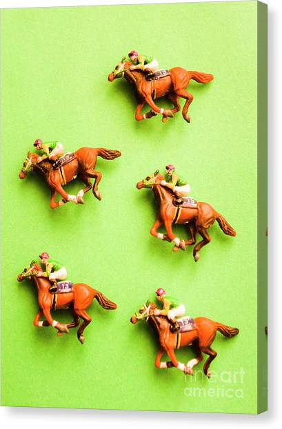 Thoroughbreds Canvas Print - Jockeys And Horses by Jorgo Photography - Wall Art Gallery