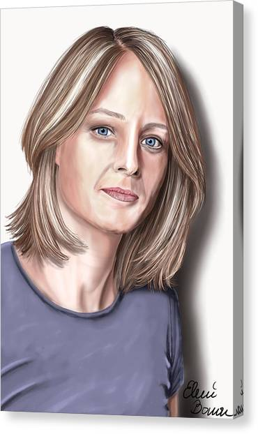 Silence Of The Lambs Canvas Print - Jodie Foster by Eleni Bonou