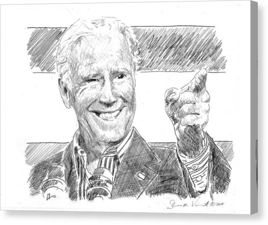 Joe Biden Canvas Print - Joe Biden by Shawn Vincelette