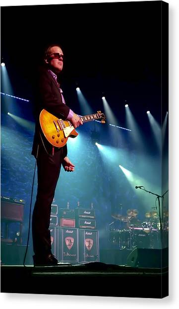 Microphones Canvas Print - Joe Bonamassa 2 by Peter Chilelli