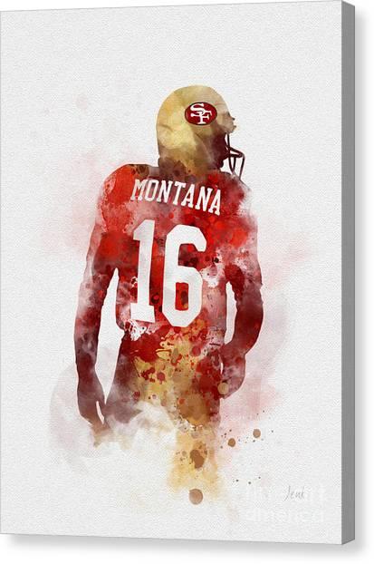Joe Montana Canvas Print - Joe Cool by Rebecca Jenkins