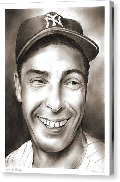 New York Yankees Canvas Print - Joe Dimaggio by Greg Joens