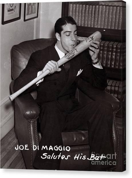 Joe Dimaggio Canvas Print - Joe Dimaggio by Science Source