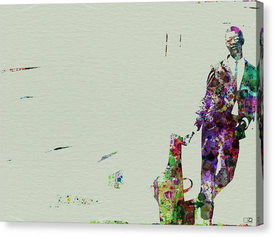 Saxophone Canvas Print - Joe Henderson Watercolor 2 by Naxart Studio
