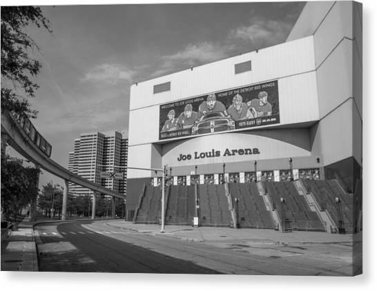 Joe Louis Arena Black And White  Canvas Print