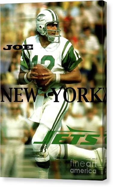 20eeecc75 Joe Namath Canvas Print - Joe Namath