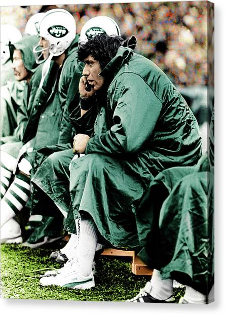 ba45d3e12 Joe Namath Canvas Print - Joe Namath by Jan Blaustein