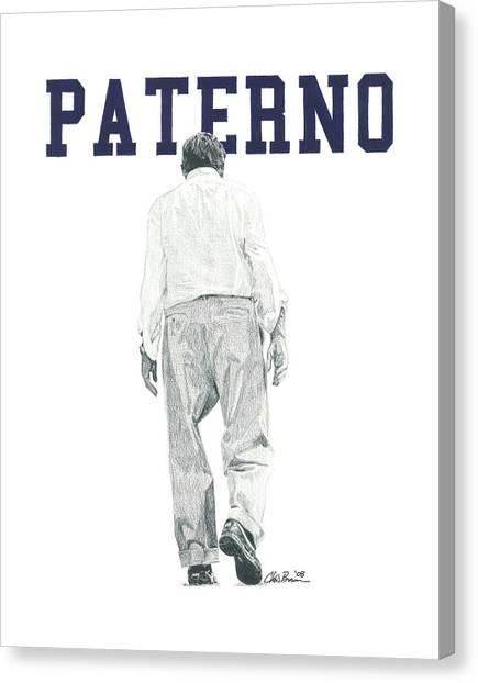Penn State University Canvas Print - Joe Paterno by Chris Brown