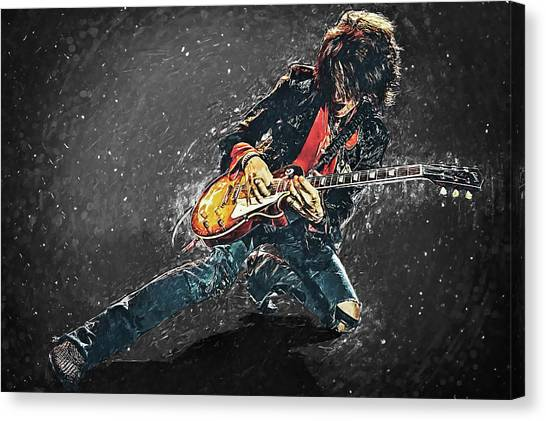 Aerosmith Canvas Print - Joe Perry by Zapista