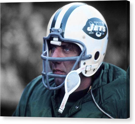 f51a8d6f0 Joe Namath Canvas Print - Joe Willie Namath by Jan Blaustein